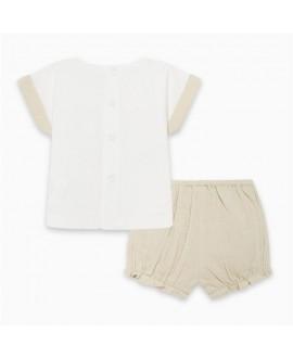 Conjunto camiseta y short gasa Savanna