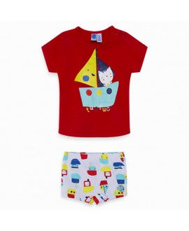 Camiseta punto y boxer Agua pato
