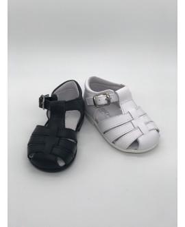 Sandalia suela cangrejera piel